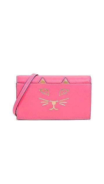 Charlotte Olympia Kitty Crossbody Wallet