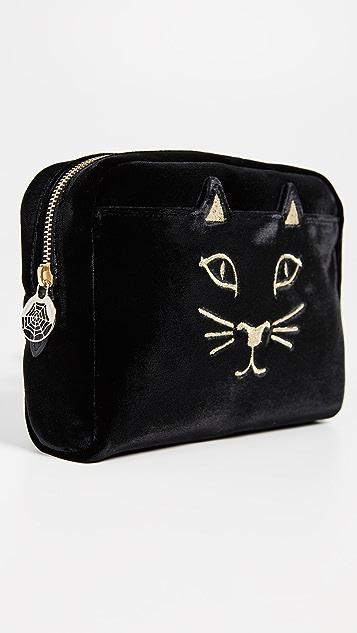Charlotte Olympia Velvet Kitty Belt Bag