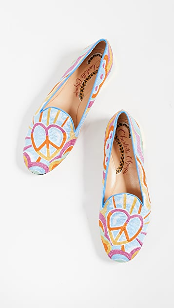 Charlotte Olympia Peace and Love Kitty 平跟船鞋
