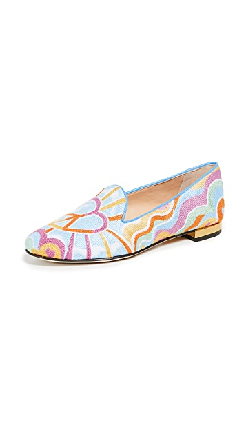 Charlotte Olympia Peace and Love Kitty Loafers