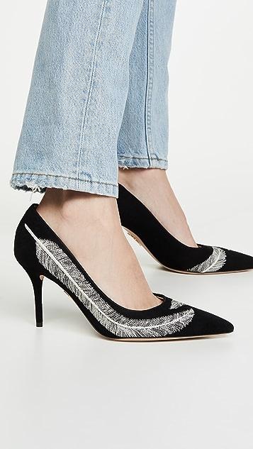 Charlotte Olympia 羽毛浅口鞋