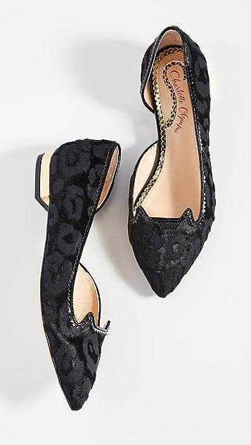 Charlotte Olympia Обувь на плоской подошве Kitty в стиле d'Orsay