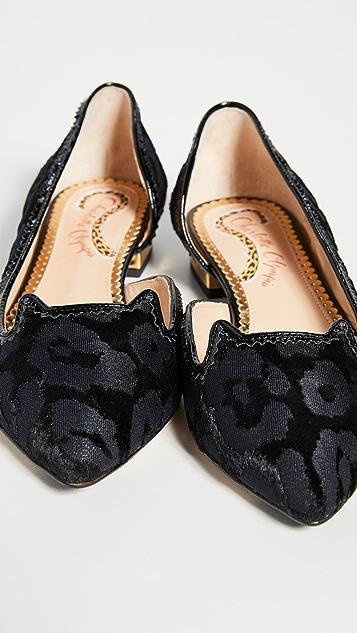Charlotte Olympia 猫咪侧空平底鞋