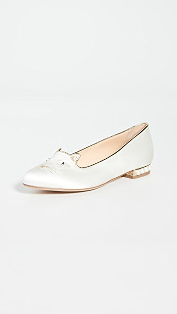 Charlotte Olympia Something Blue Kitty Flats