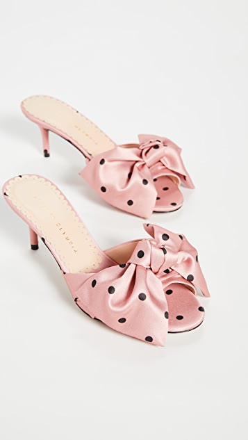 Charlotte Olympia Polka Dot Bow Sandals