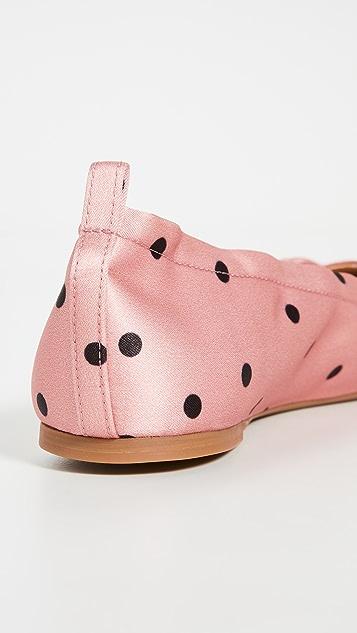Charlotte Olympia 圆点猫咪平底鞋