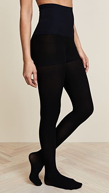 Commando Control Top Ultimate Opaque Matte Tights - Black