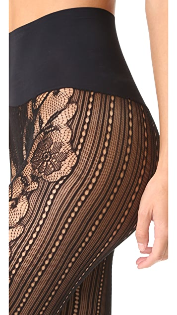Commando Runway Floral Net Tights
