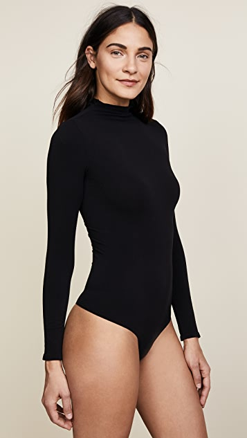 Commando Ballet Mock Neck Thong Bodysuit