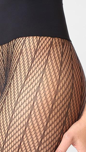 Commando Herringbone Net Tights