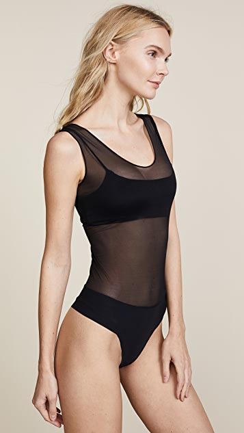 Commando Chic Mesh Tank Bodysuit