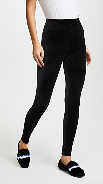 Commando Perfect Control Velour Leggings - Black