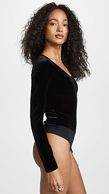 Commando Velvet Long Sleeve Bodysuit
