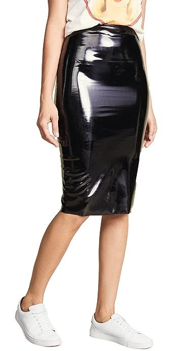 Commando Perfect Patent Midi Skirt - Black