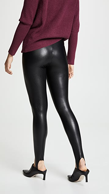Commando Faux Leather Stirrup Pants