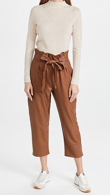 Commando Faux Leather Paperbag Pants
