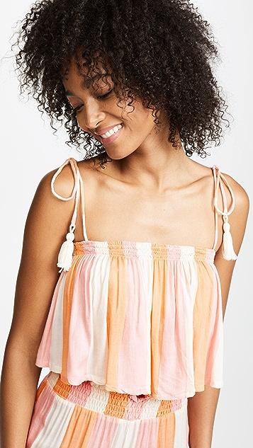 coolchange Ella Seaside Stripe Crop Top