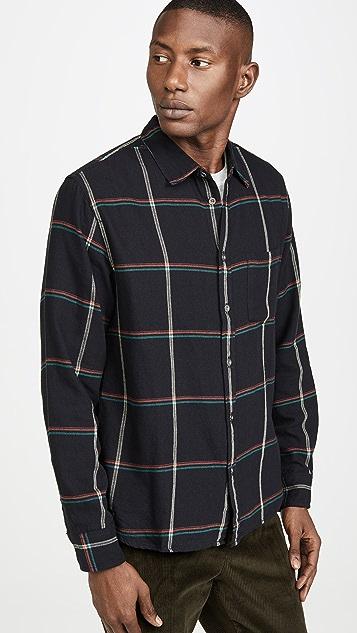 Corridor Plaid Long Sleeve Flannel Shirt