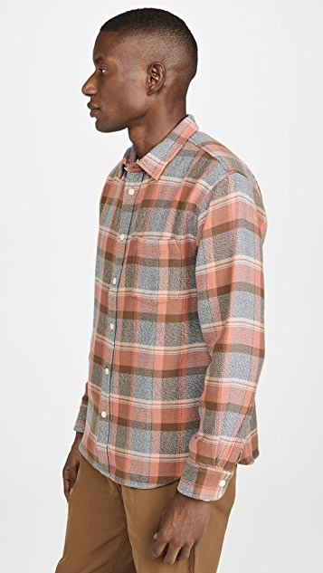 Corridor Blanket Plaid Long Sleeve Shirt