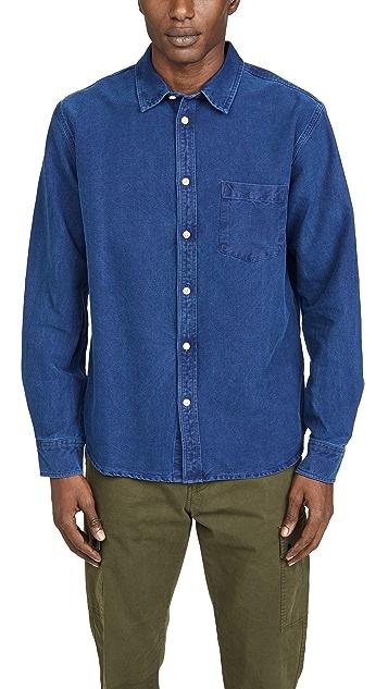 Corridor Men's Indigo Dobby Long Sleeve Shirt