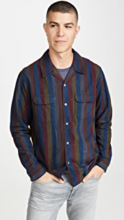 Corridor Vertical Striped Moleskin Work Shirt