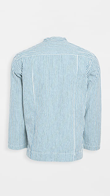 Corridor Striped Popover Long Sleeve Shirt