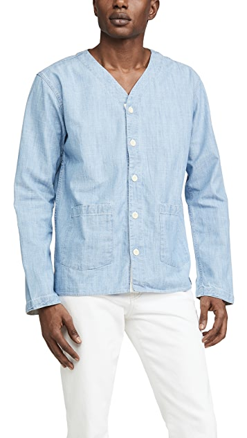 Corridor Washed Chambray Baseball Shirt
