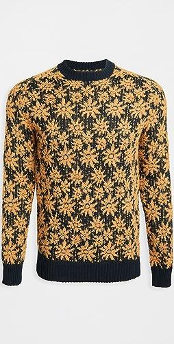 Corridor - Alpaca Wool Floral Crew Neck Sweater