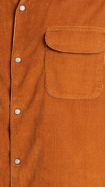 Corridor Pincord Snap Button Workshirt