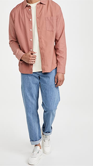 Corridor Paneled Dusty Rose Shirt