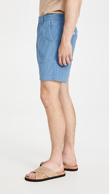 Corridor Vintage Indigo Pincord Camp Pocket Shorts