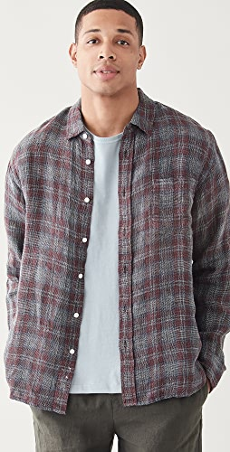 Corridor - Open Weave Red Plaid Shirt