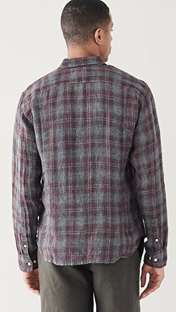 Corridor Open Weave Red Plaid Shirt