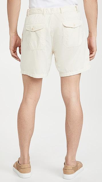 Corridor Natural Pincord Camp Pocket Shorts