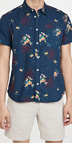 Corridor - Embroidered Bouquet Hawaiian Shirt