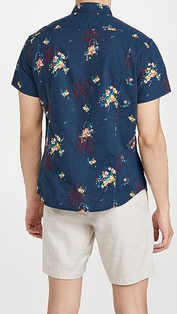 Corridor Embroidered Bouquet Hawaiian Shirt