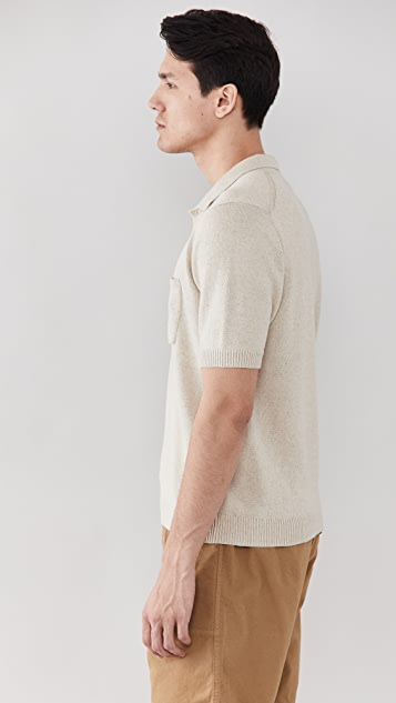 Corridor Knit Slouchy Polo Shirt