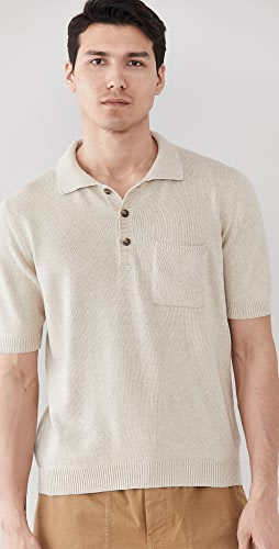 Corridor - Knit Slouchy Polo Shirt