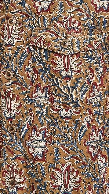 Corridor Olive Handblock Paisley Military Jacket
