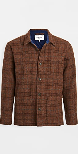 Corridor - Shetland Wool Jacket Raisin Plaid