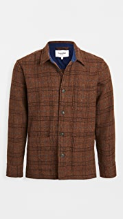 Corridor Shetland Wool Jacket Raisin Plaid