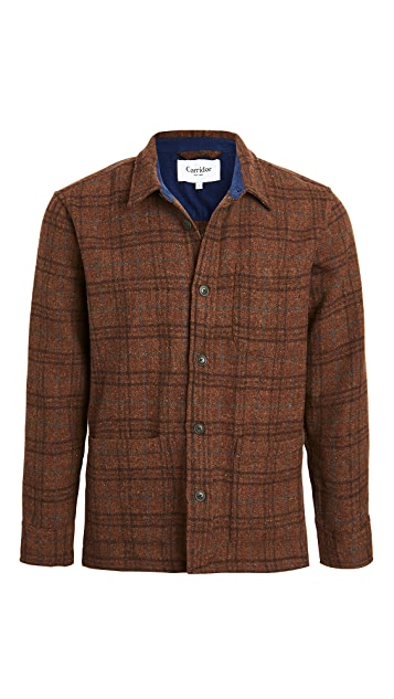 Corridor Shetland Wool Jacket Raisin Plaid