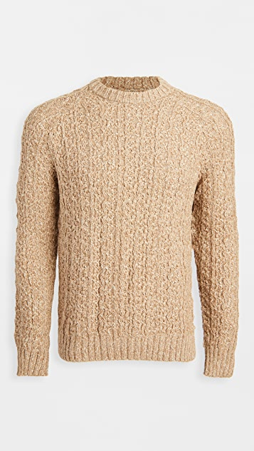 Corridor Cable Knit Baby Alpaca Crew Neck Sweater