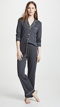 Bella Long Sleeve Top & Pant PJ Set