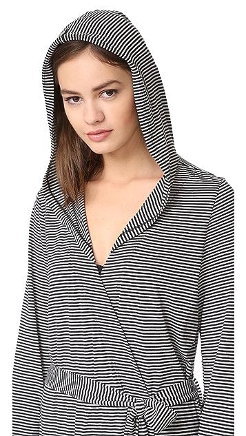 Cosabella Bella Stripe Hoodie Robe