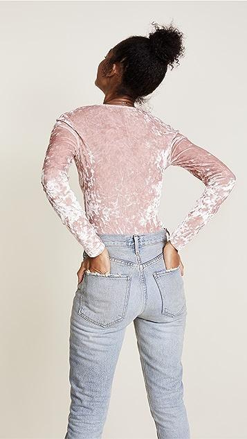 Cosabella Bisou Velvet Thong Back Bodysuit