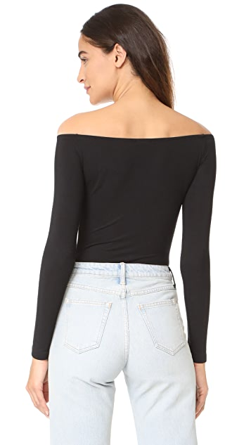 Cosabella Minimalista Off Shoulder Thong Bodysuit