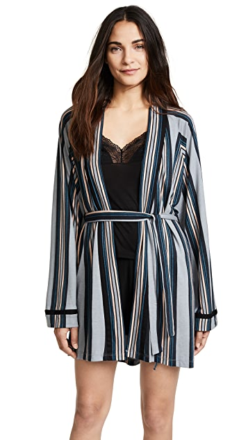 Cosabella Bella Wide Stripe Robe