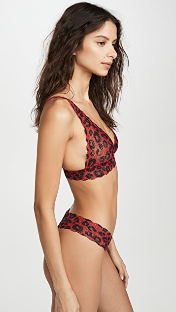 Cosabella Pixie Printed Tall Triangle Bralette
