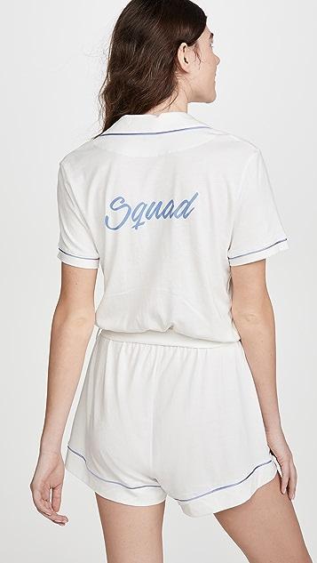 Cosabella Bella Bridal Squad 短袖居家短款连身衣